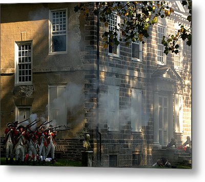 Metal Print featuring the photograph Battle Of Germantown by Steven Richman