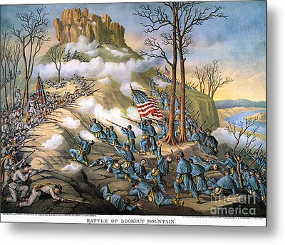 Battle Of Lookout Mount Metal Print by Granger