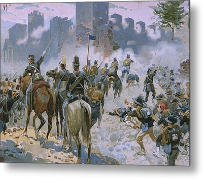 Battle Of Solferino And San Martino Metal Print by Italian School