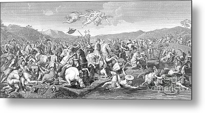 Battle Of The Milvian Bridge, 312 Ad Metal Print by Photo Researchers