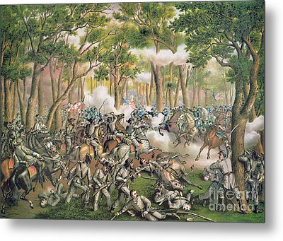 Battle Of The Wilderness May 1864 Metal Print by American School