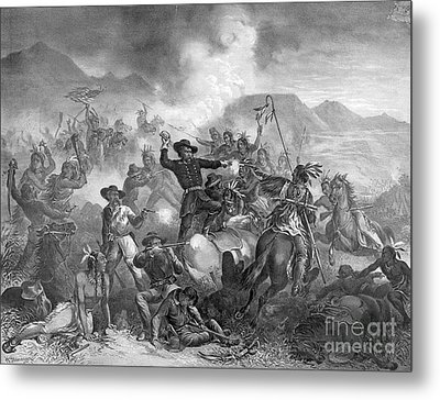 Battle On The Little Big Horn, 1876 Metal Print by Photo Researchers
