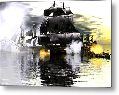 Battle Smoke Metal Print
