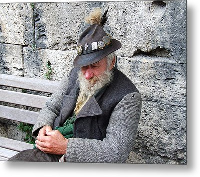 Metal Print featuring the photograph Bavarian Gentelman Partenkirchen Germany by Joseph Hendrix