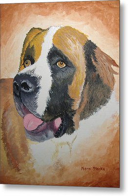 Metal Print featuring the painting Baxter by Norm Starks