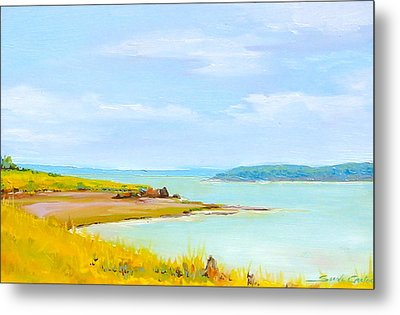 Bay Of Fundy From Eastport Metal Print