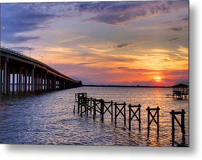 Bay St. Louis Sunset Metal Print by Brian Wright