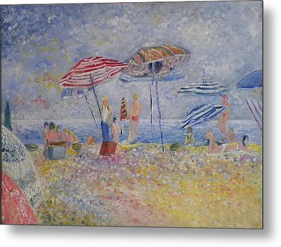 Beach Afternoon Metal Print by B Russo