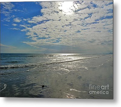Metal Print featuring the photograph Beach At Dawn by Eve Spring
