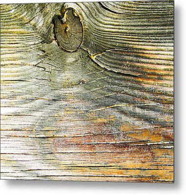 Beach Boardwalk Abstract Metal Print by Christy Usilton