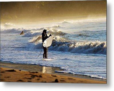 Beach Break Metal Print by Lennie Green