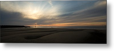 Beach Casters On The Wirral Metal Print by Wayne Molyneux