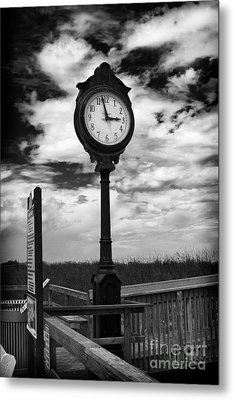 Beach Clock Metal Print by Thanh Tran