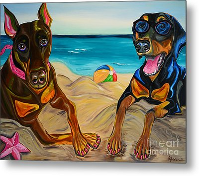 Beach Dawgs Metal Print