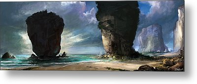 Beach Front Metal Print by Steve Goad