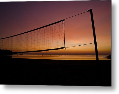 Metal Print featuring the photograph Beach Games by Jason Naudi Photography