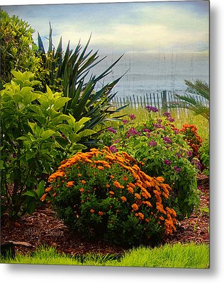 Metal Print featuring the photograph Beach Garden by Mary Timman