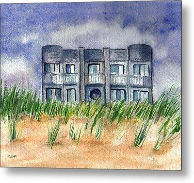 Metal Print featuring the painting Beach House by Clara Sue Beym