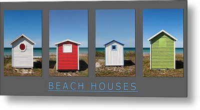 Beach Houses Metal Print by Stefan Nielsen