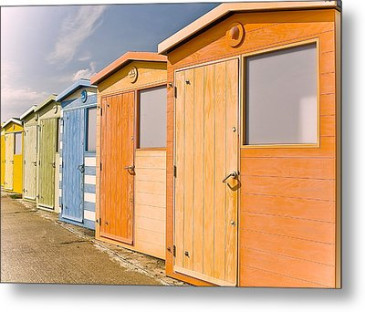 Beach Huts Metal Print by Phil Clements