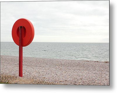 Beach In Budleigh Salterton Metal Print by Thenakedsnail