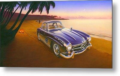 Beach Mercedes Metal Print by Andrew Farley