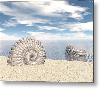Metal Print featuring the digital art Beach Of Shells by Phil Perkins