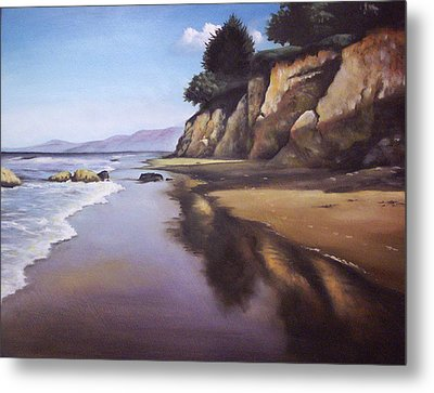 Beach Scene Metal Print by Mike Worthen