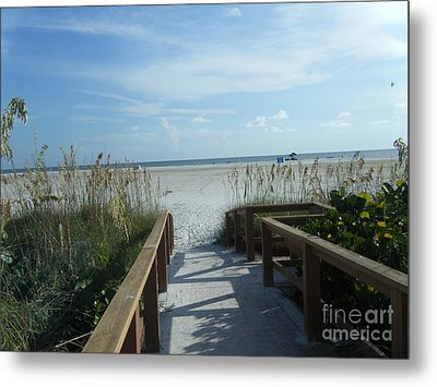 Beach Serenity Metal Print by Kaitlyn Roge