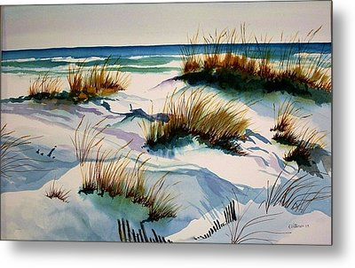 Metal Print featuring the painting Beach Shadows by Richard Willows
