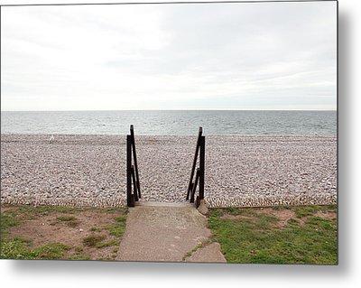 Beach Steps Metal Print by Thenakedsnail