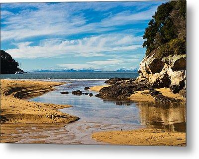 Beach Stream Metal Print by Graeme Knox