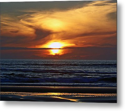 Beach Sunset  Metal Print by Pamela Patch