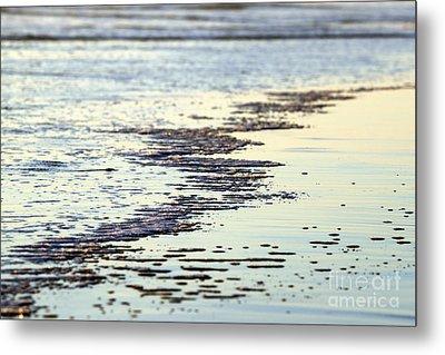 Beach Water Metal Print by Henrik Lehnerer