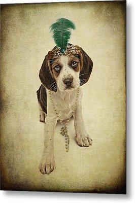 Beagle Puppy Flapper  Metal Print by Susan Schmitz