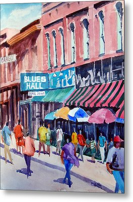 Beale Street Blues Hall Metal Print by Ron Stephens