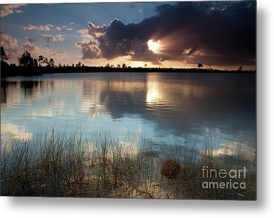 Beams Of Light Metal Print by Keith Kapple