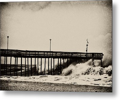 Metal Print featuring the photograph Beatin' Pier by Kelly Reber