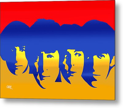 Beatles Pop Metal Print by Carvil