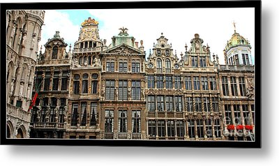 Beautiful Belgian Buildings - Digital Art Metal Print
