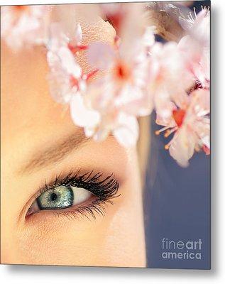 Beautiful Blue Eye Metal Print by Anna Om