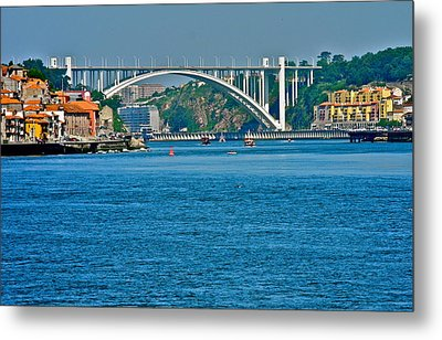 Metal Print featuring the photograph Beautiful Bridge In Porto by Kirsten Giving