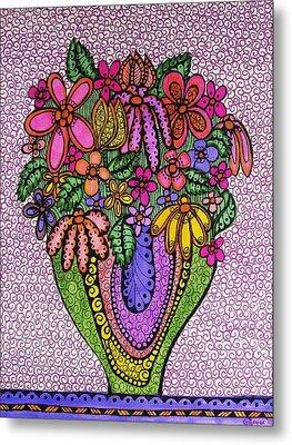 Beautiful Floral Imagination  Metal Print by Gerri Rowan