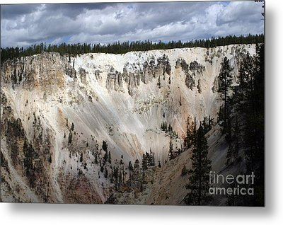 Beautiful Lighting On The Grand Canyon In Yellowstone Metal Print by Living Color Photography Lorraine Lynch