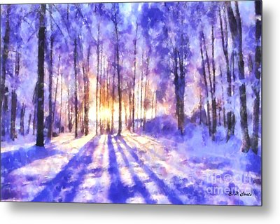 Beautiful Winter Morning Metal Print by Elizabeth Coats