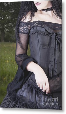 Metal Print featuring the photograph Beautiful Young Woman In Field by Ethiriel  Photography