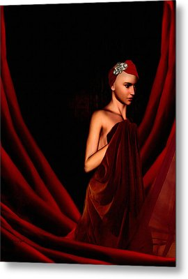 Beautifully Red Metal Print by Lourry Legarde