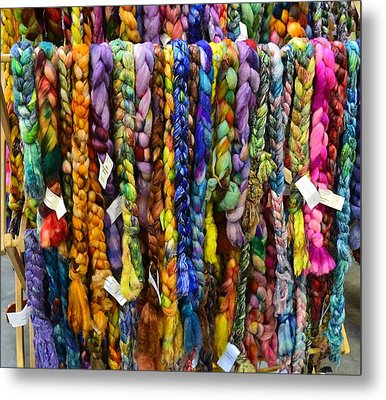 Beauty In Braided Roving Metal Print