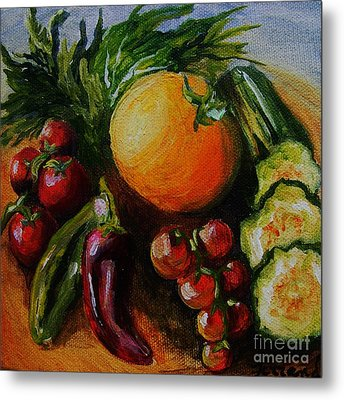 Beauty Of Good Eats Metal Print by Karen  Ferrand Carroll