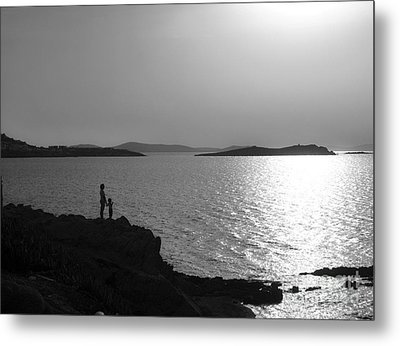 Beauty Of Mykonos Metal Print by Leslie Leda